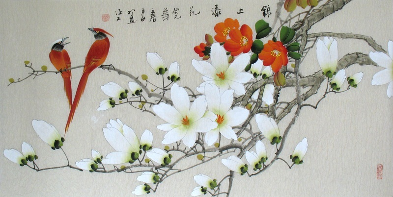 Fine-art-Birds-Flowers-Chinese-Ink-Brush-Painting