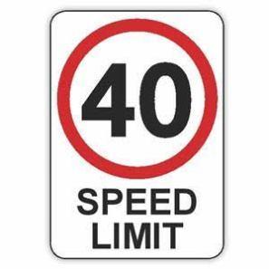 40 Speed Limit