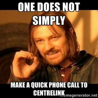 Boromir on Centrelink