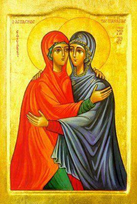 Elizabeth and Mary icon 1