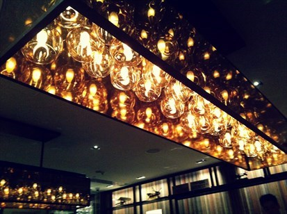 Flint Grill & Bar JW Marriott Hotel Hong Kong light fittings