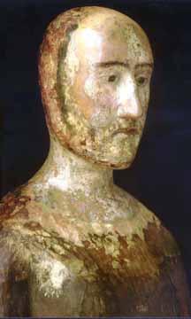 Edward III funeral effigy head & shoulders, Westminster Abbey Mu